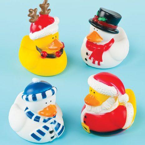 Christmas Ducks - Pack of 4