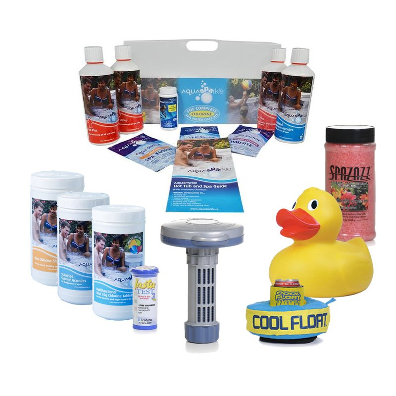 Gold Hot Tub & Spa Chlorine Starter kit