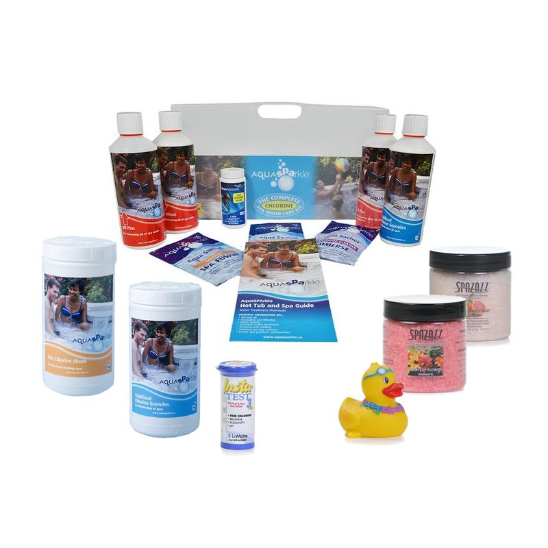 Silver Hot Tub & Spa Chlorine Starter kit